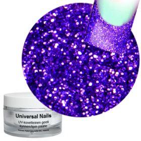 Universal Nails Loistava Violetti UV glittergeeli 10 g