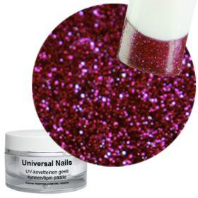 Universal Nails Loistava Rubiini UV glittergeeli 10 g