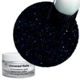 Universal Nails Maaginen Musta/Sininen UV glittergeeli 10 g