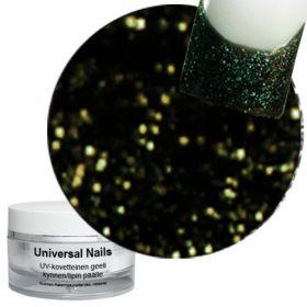 Universal Nails Maaginen Musta/Kulta UV glittergeeli 10 g