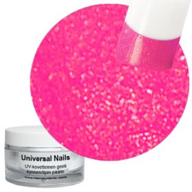 Universal Nails Pinkki Helmiäinen UV glittergeeli 10 g