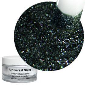 Universal Nails Musta Tähti UV glittergeeli 10 g