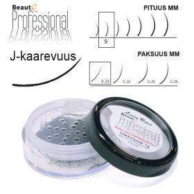 BeautQ Professional J-Pidennysripset 9 / 0.10 1 g