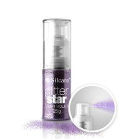 Silcare #07 Light Violet Glitter Star glittersuihke 25 g