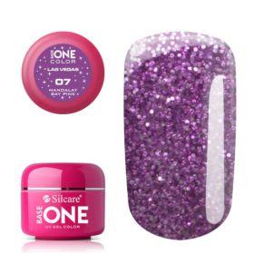 Silcare #07 Mandalay Bay Pink Base One Las Vegas UV glittergeeli 5 g