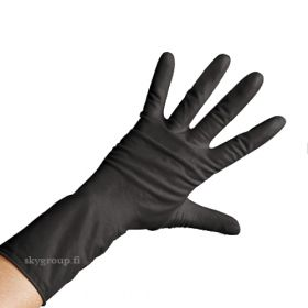 Comair Germany Professional Black Gloves Mustat Lateksikäsineet L 20 kpl