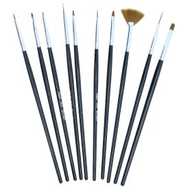 Noname Cosmetics Nail Art Brush Geelipensselisetti 10 kpl