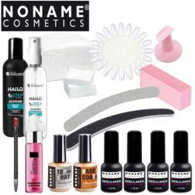 Noname Cosmetics 3-vaihe Geelilakka-aloituspaketti ilman uunia