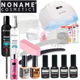 Noname Cosmetics 3-vaihe Geelilakka-aloituspaketti Promed UVL-54 UV&LED-uunilla