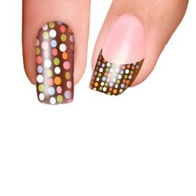 Trendy Nail Wraps Chocolate with Sprinkles Kynsikalvo kärkikalvo