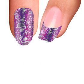 Trendy Nail Wraps Paisley Power Purple Kynsikalvo koko kynsi