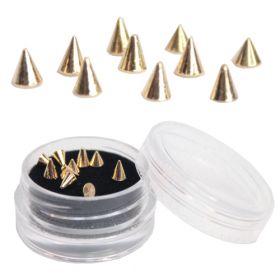 Noname Cosmetics Kultaiset teräväkärkiset niitit 10 kpl