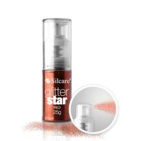 Silcare #05 Red Glitter Star glittersuihke 25 g
