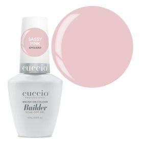 Cuccio Sassy Pink Brush-On Colour Builder With Calcium LED/UV geeli 13 mL