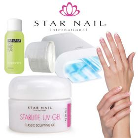 Star Nail Starlite 1-Vaihe UV-Geeli Aloituspaketti Promed UVL-36 S UV-uunilla
