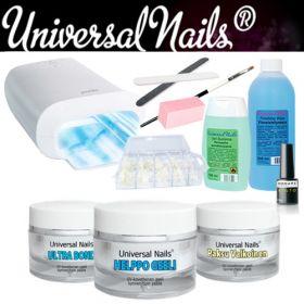 Universal Nails Helppo UV-geeli Aloituspaketti Promed UVL-36 S UV-uunilla