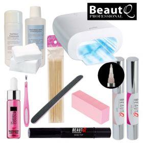 BeautQ Professional Longlife Pen Geelilakkakynä-aloituspaketti Promed UVL-36 S UV-uunilla